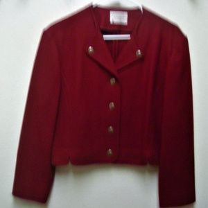 VINTAGE PENDLETON 100% WOOL CROPPED B/D JACKET